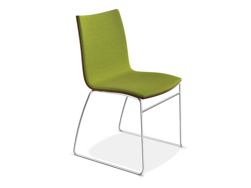 Sled base upholstered chair ONYX I | Upholstered chair - Casala