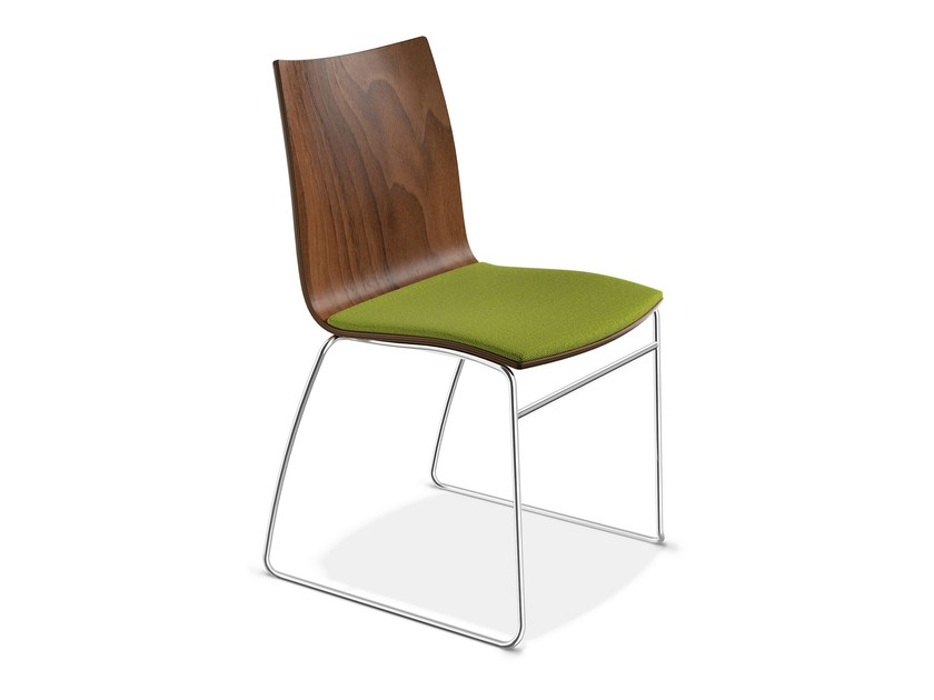 Sled base wooden chair ONYX I | Wooden chair - Casala
