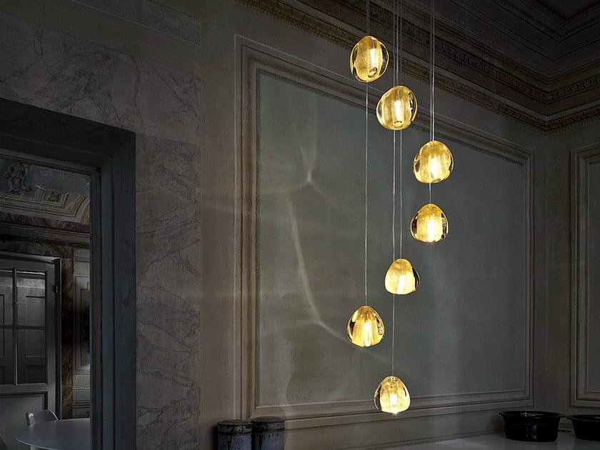 Halogen crystal pendant lamp MIZU | Crystal pendant lamp - TERZANI