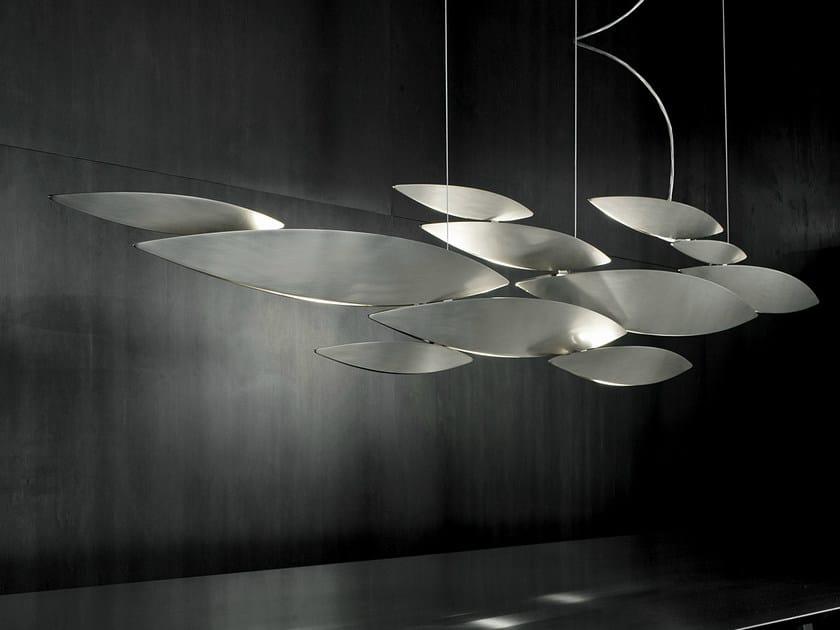 Halogen metal pendant lamp I LUCCI ARGENTATI | Pendant lamp by TERZANI