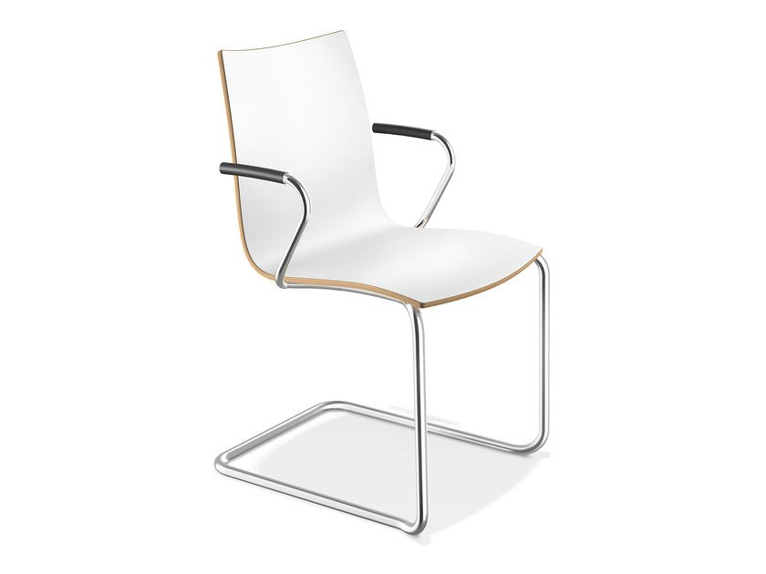 Laminate chair with armrests ONYX II | Chair with armrests - Casala
