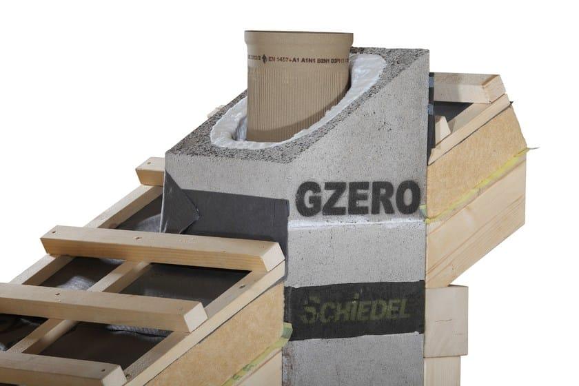 Soluzione per il passaggio canna fumaria a tetto schiedel - Rivestimento canna fumaria esterna ...