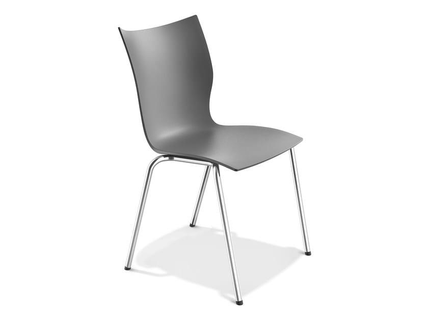 Stackable plastic chair ONYX III | Plastic chair - Casala