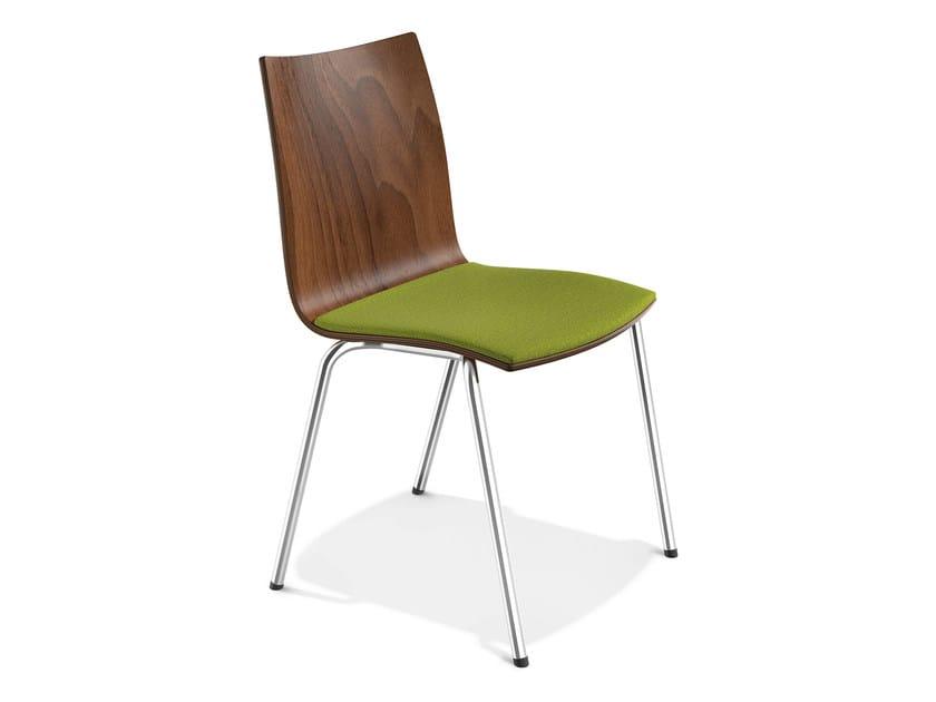 Stackable wooden chair ONYX III | Wooden chair - Casala