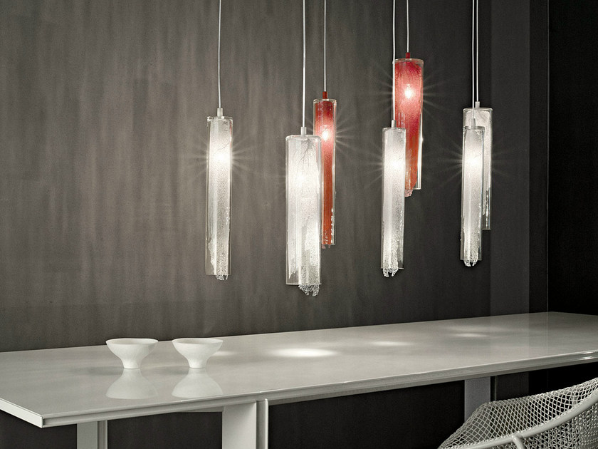 Halogen glass pendant lamp FRAME | Glass pendant lamp - TERZANI