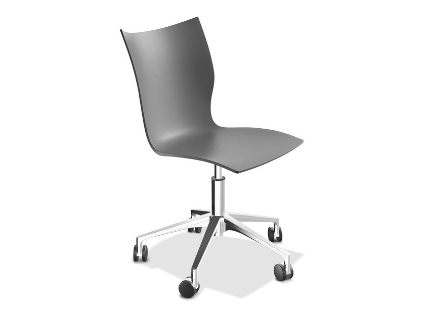 Plastic chair with 5-spoke base ONYX IV | Plastic chair - Casala