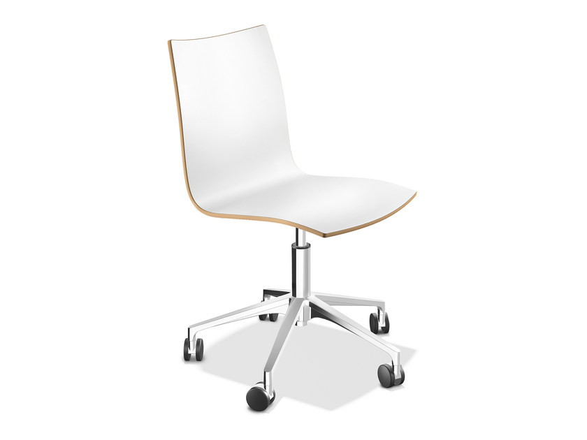 Laminate chair with 5-spoke base ONYX IV | Laminate chair - Casala