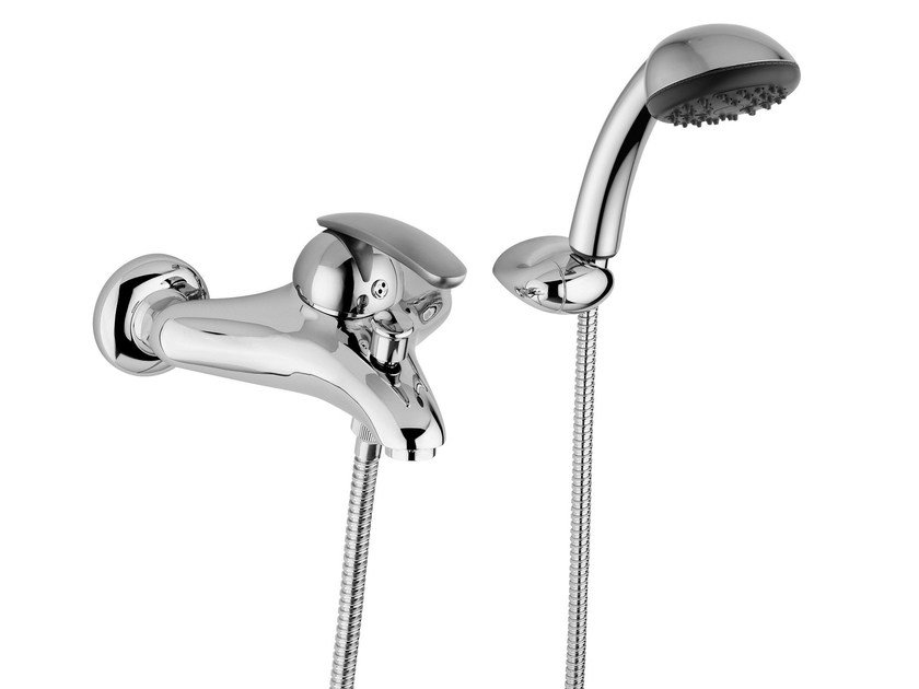 2 hole bathtub mixer with hand shower KOMETA | Bathtub mixer with hand shower by Rubinetteria Giulini