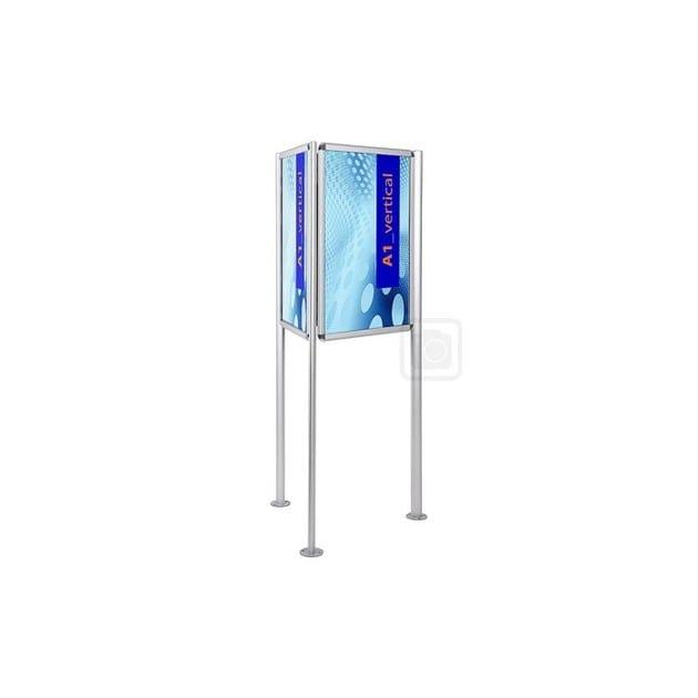 Freestanding double-sided notice board PORTA POSTER A 3 LATI | Freestanding notice board - STUDIO T
