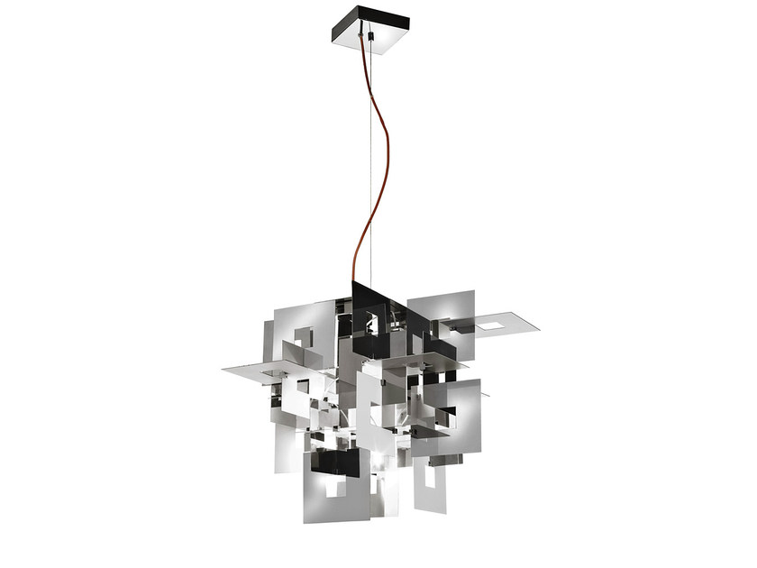 Halogen stainless steel pendant lamp UNTITLED | Pendant lamp - TERZANI