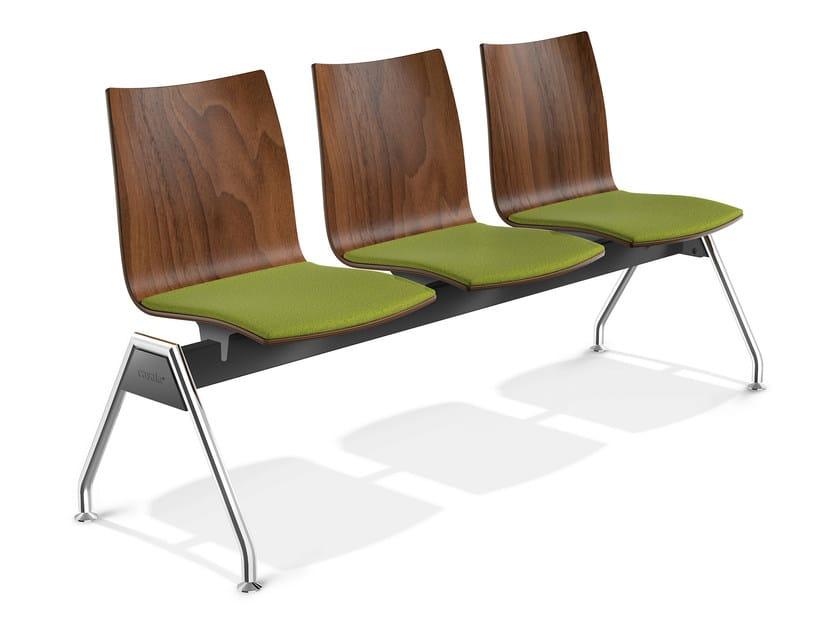 Wooden beam seating ONYX TRAVERSE | Beam seating - Casala