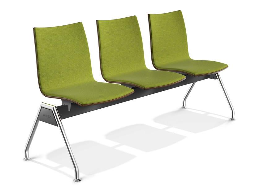 Fabric beam seating ONYX TRAVERSE | Beam seating - Casala