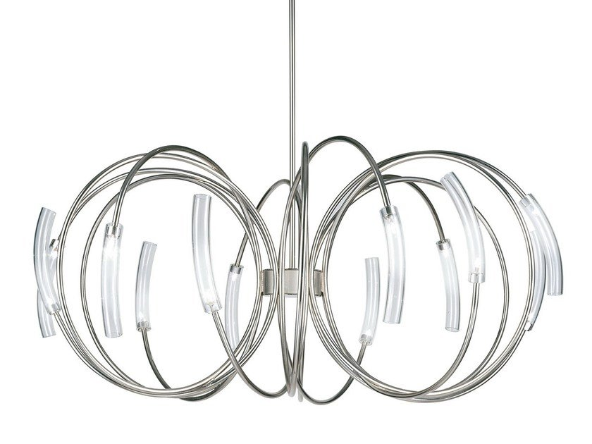 Halogen metal pendant lamp HOOK - TERZANI