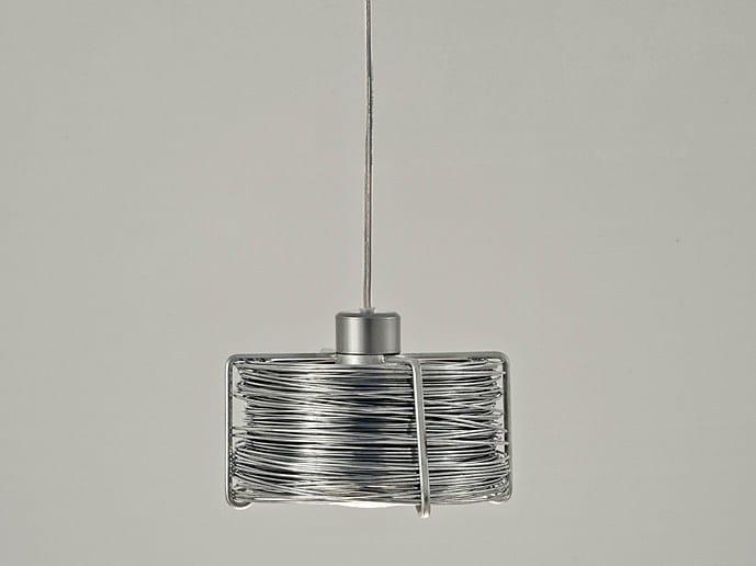 Halogen metal pendant lamp BOBINO - TERZANI