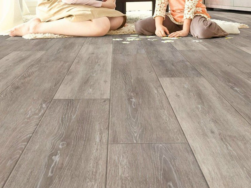 Resilient vinyl flooring with wood effect id essential 30 by tarkett - Linoleum imitation parquet ...