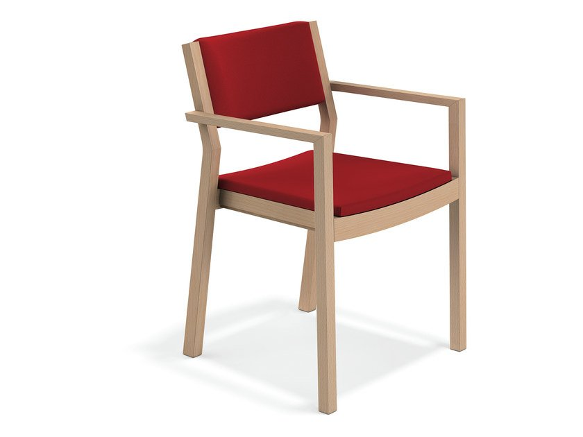 Upholstered chair with armrests WOODY | Chair with armrests - Casala