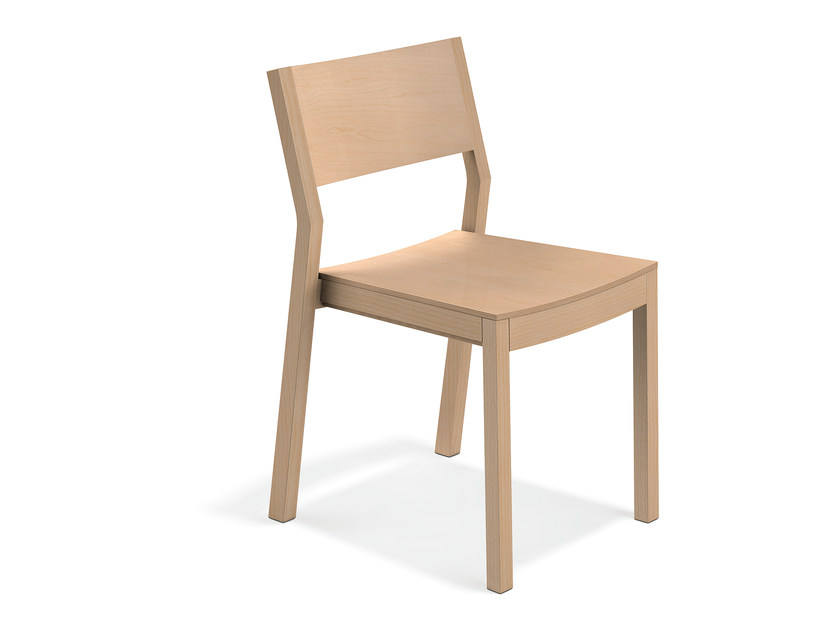 Wooden reception chair WOODY | Wooden chair by Casala