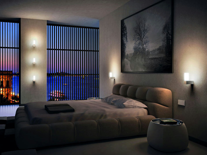 Aluminium wall lamp ALTA AP by Vetreria Vistosi