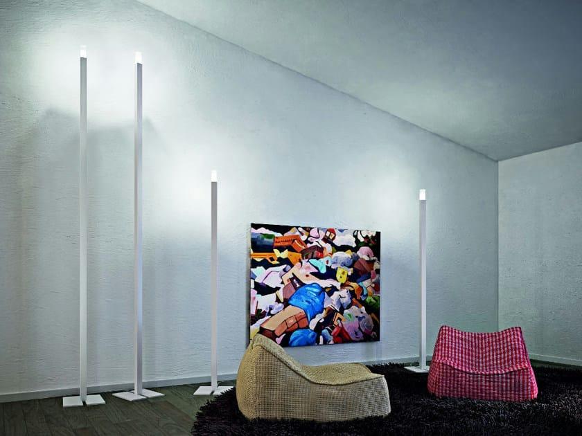 Aluminium floor lamp ALTA PT - Vetreria Vistosi