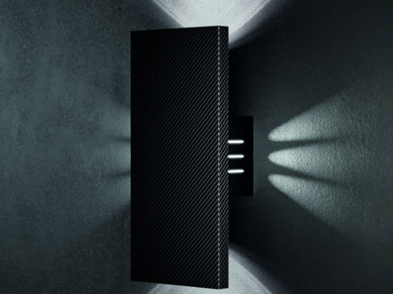 Carbon fibre wall light BOX AP - Vetreria Vistosi