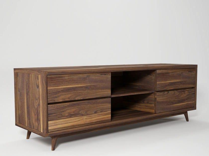 Low wooden TV cabinet VINTAGE | TV cabinet - KARPENTER
