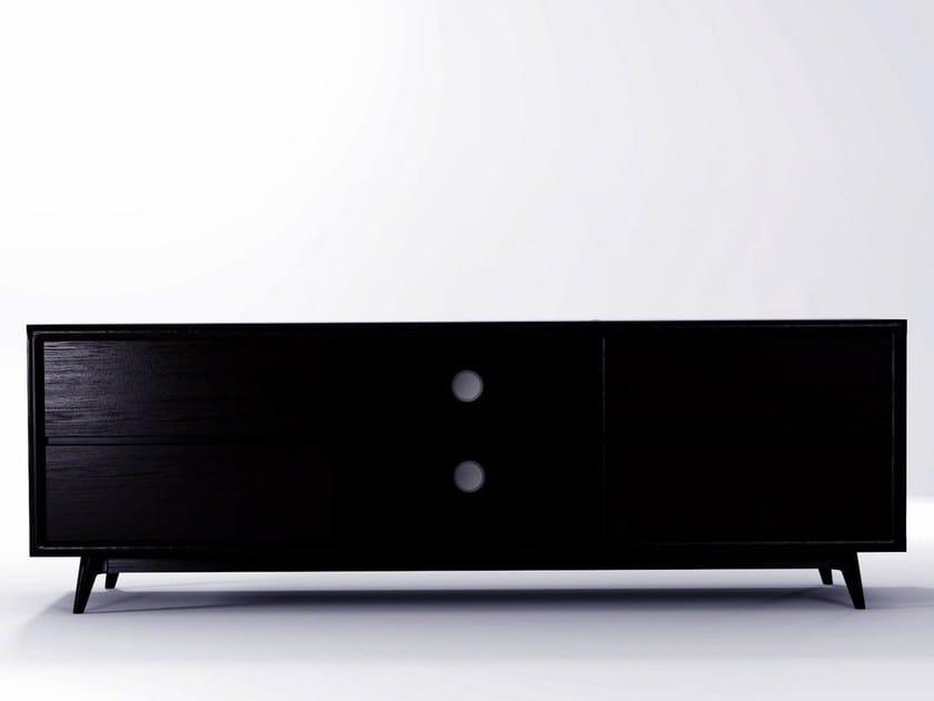 mobile basso tv : Mobile TV basso in legno VINTAGE Mobile TV - KARPENTER