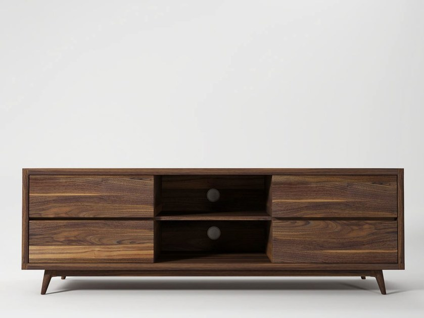 mobile tv basso in legno vintage mobile tv karpenter. Black Bedroom Furniture Sets. Home Design Ideas