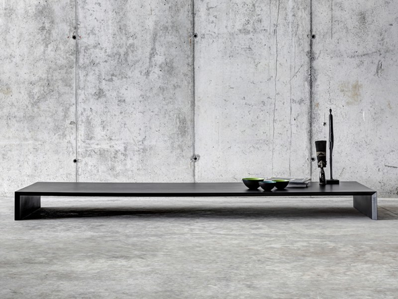Low rectangular MDF coffee table OMBRÌ 02 by FIORONI