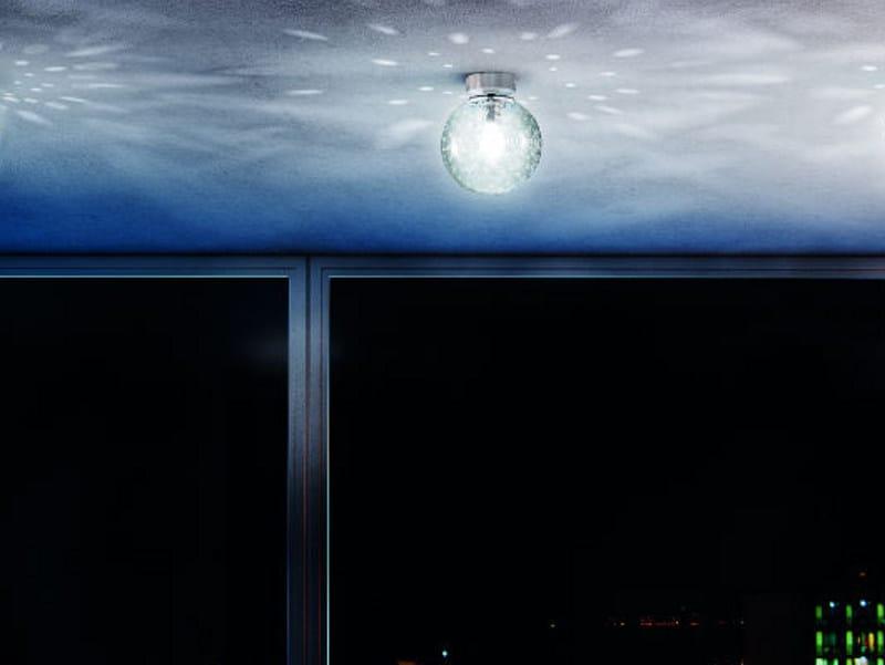 Borosilicate glass ceiling light FORATA PL by Vetreria Vistosi