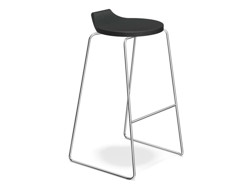 High sled base stool RAVELLE I | High stool by Casala
