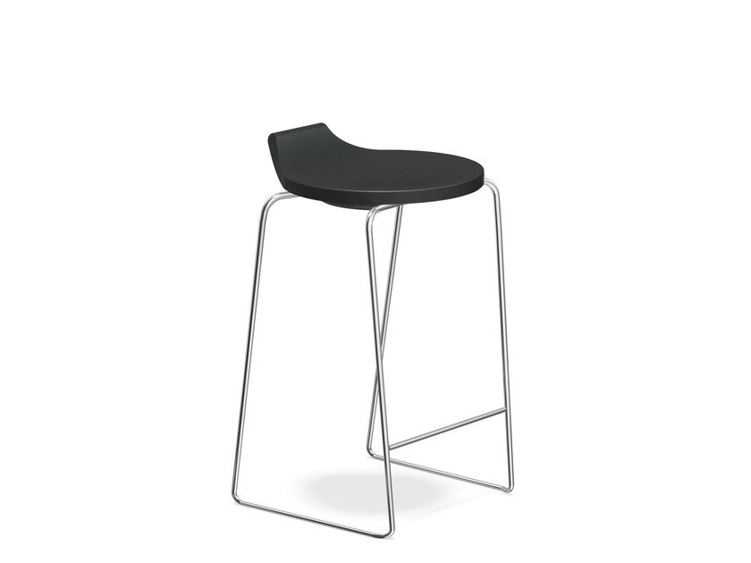 Low sled base stool RAVELLE I | Low stool - Casala