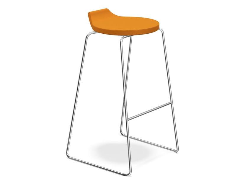 High fabric stool RAVELLE I | High stool - Casala