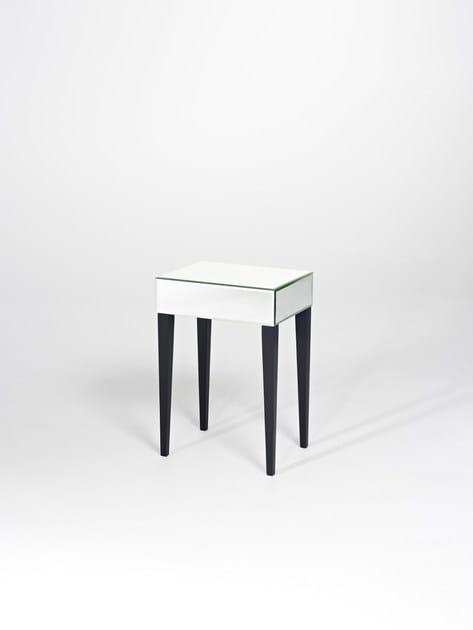 Contemporary style rectangular glass console table FOLI | Glass console table - DEKNUDT MIRRORS