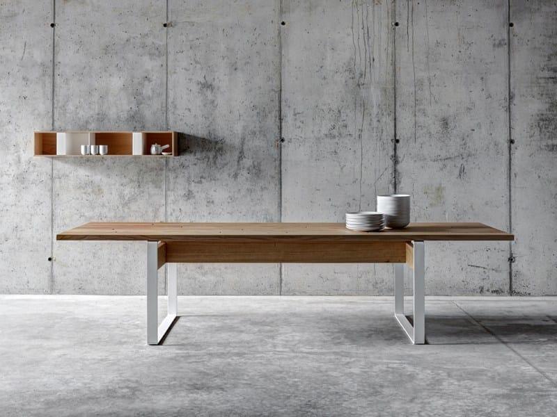 Rectangular wooden dining table LA PUNT - FIORONI