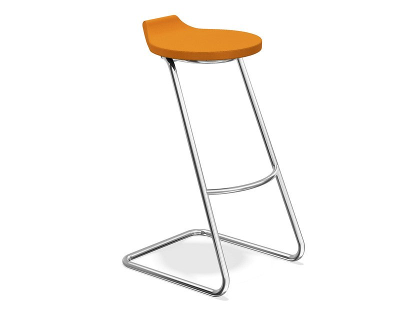 Cantilever fabric stool RAVELLE II | Fabric stool - Casala
