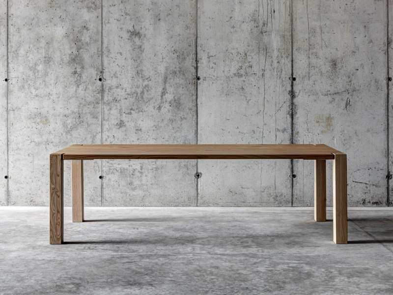 Rectangular solid wood table WF1 - FIORONI