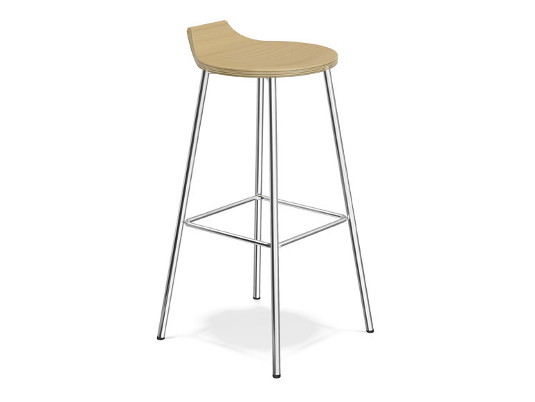 Wooden barstool RAVELLE III | Wooden stool by Casala