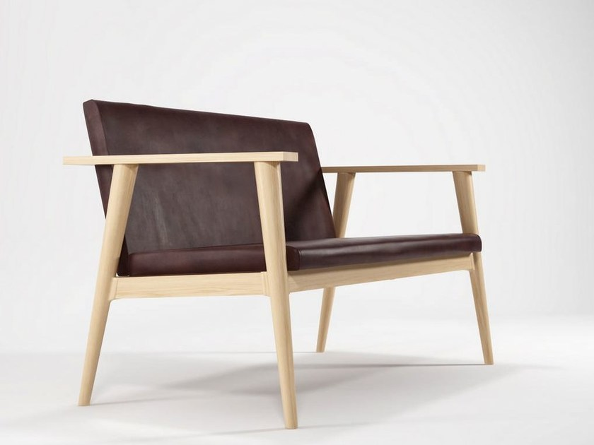 Wooden small sofa VINTAGE | Small sofa by KARPENTER
