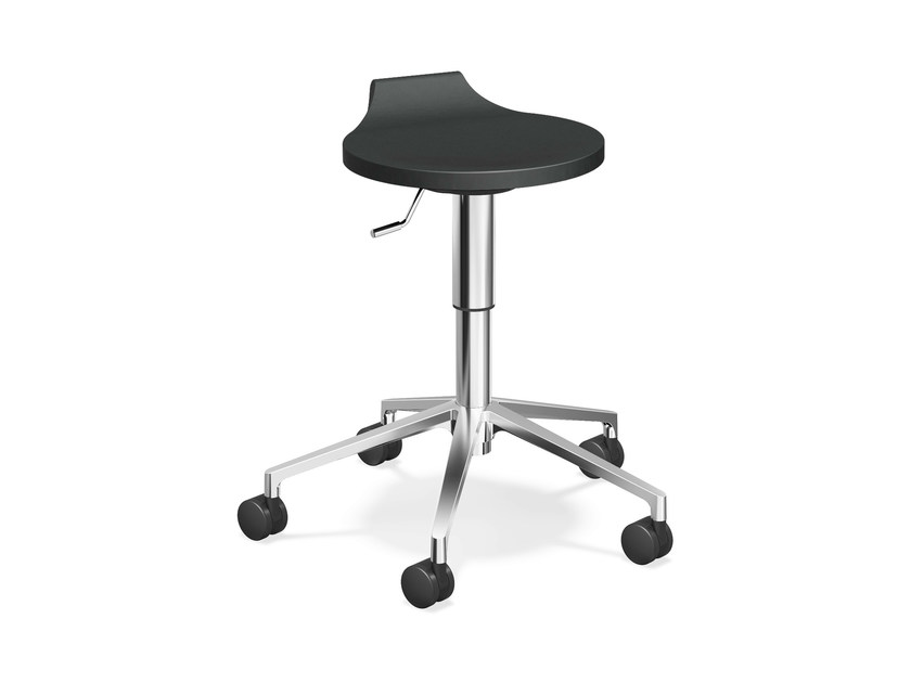 Synthetic material stool with casters RAVELLE V | Stool with casters - Casala