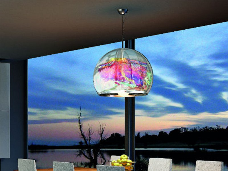 Methacrylate pendant lamp GLOBA SP - Vetreria Vistosi
