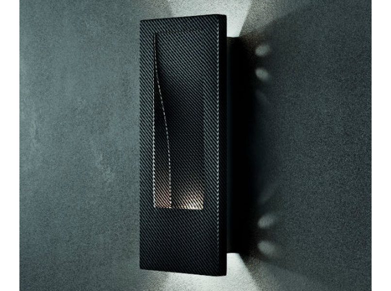 Carbon fibre wall light HOLE AP by Vetreria Vistosi