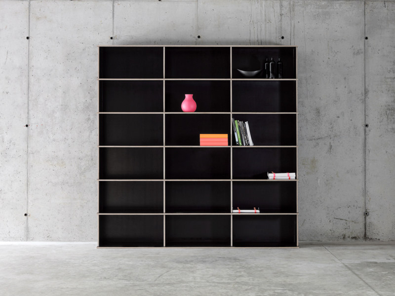 Modular multi-layer wood bookcase J.M.B./3.6 - FIORONI