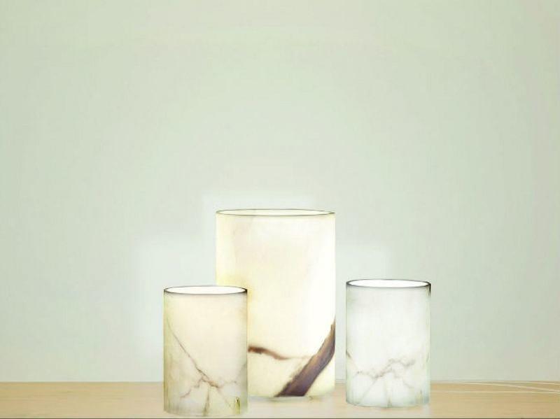 Carrara marble table lamp MARMA LT by Vetreria Vistosi