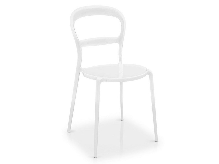 Stackable polycarbonate chair WIEN - Calligaris