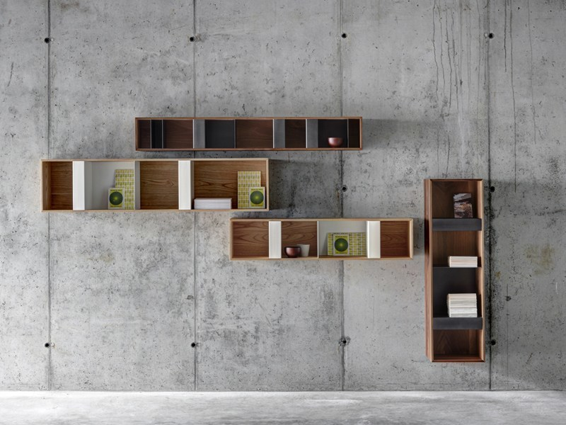 Steel and wood wall cabinet T BOX - FIORONI