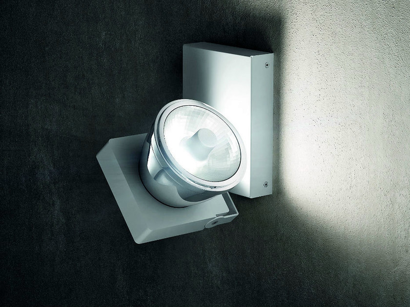 Wall-mounted adjustable aluminium spotlight NOTTA AP 1IO - Vetreria Vistosi