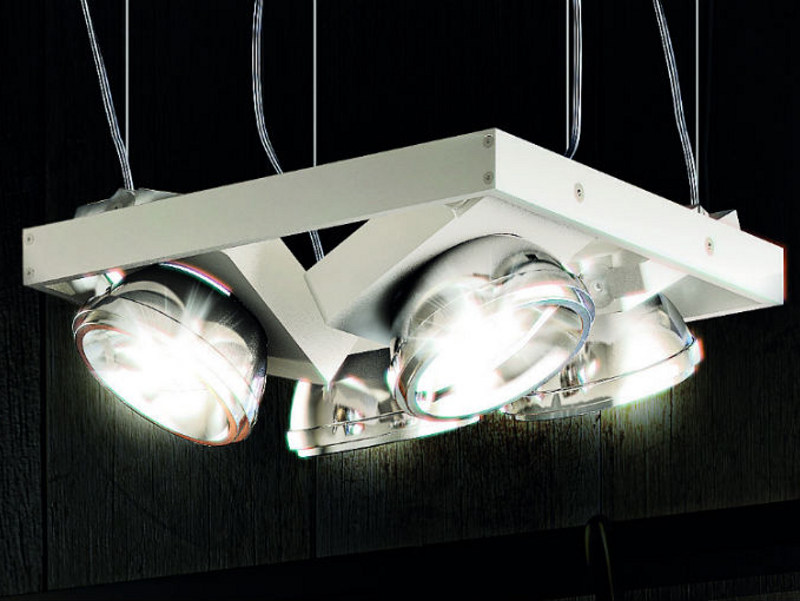 Adjustable aluminium pendant lamp NOTTA SP 4 by Vetreria Vistosi