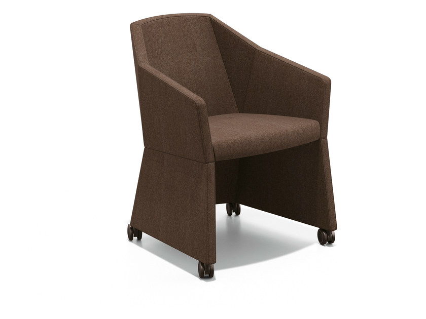 Fabric easy chair with casters PARKER I | Easy chair with casters - Casala
