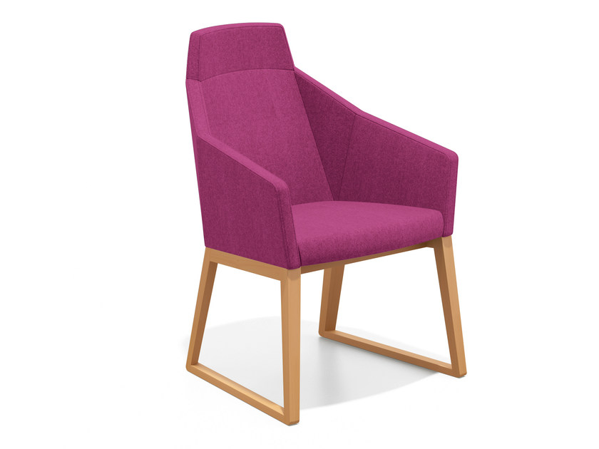 Sled base easy chair high-back PARKER II | Sled base easy chair by Casala