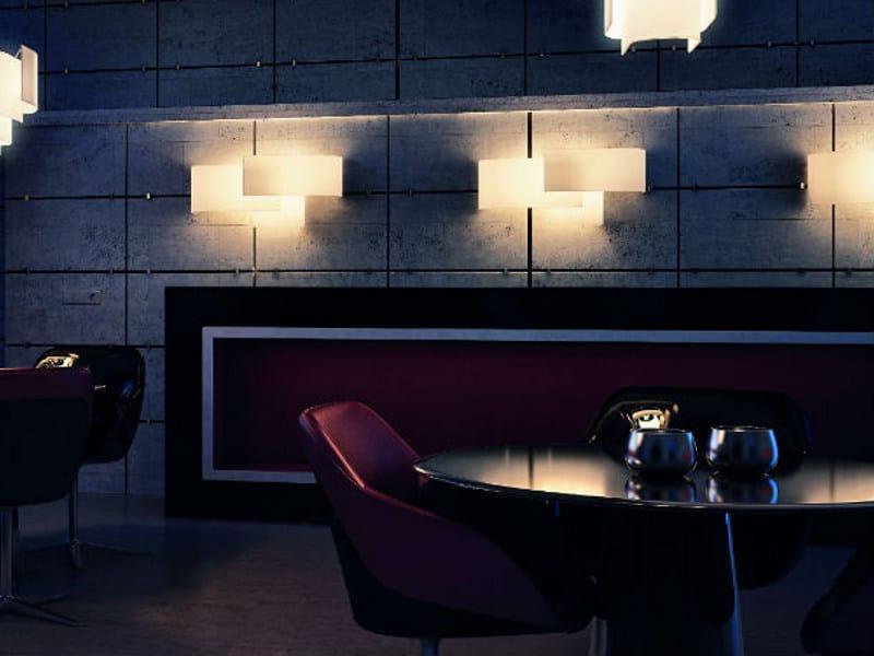 Fabric wall lamp PAPIRO AP by Vetreria Vistosi
